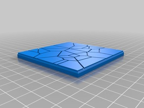 75mm square tiles for 3D deadzone board Set 2