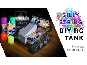Silly string RC tank