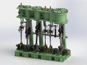 Triple Expansion Marine Steam engine update 4