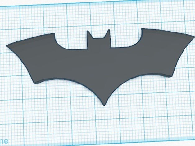 The Bat Symbol By Thedarkknight Thingiverse