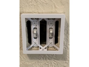 Philips Hue Dimmer switch-holder plate cover US (2 gang)