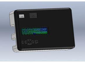 Arduino uno LCD keypad shield, battery 18650 and buzzer
