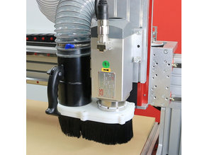 CNC Spindle and Router Dust Shoe (Customizable)