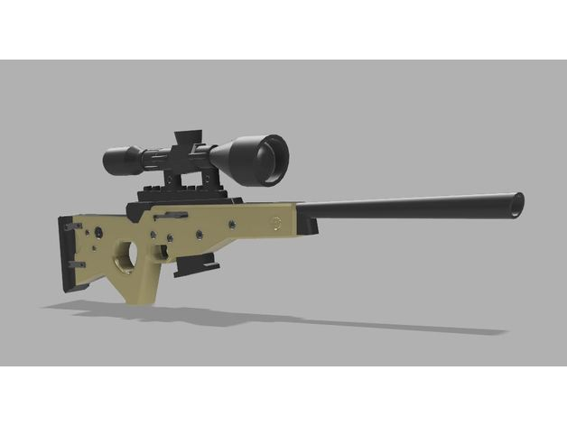 Fortnite Bolt Action Sniper Rifle Sr By T Dawg Thingiverse