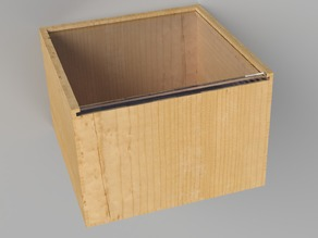 Box with sliding lid (for laser cutting or milling)