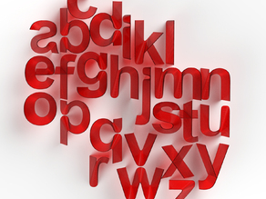 Next Level Sheet: 3d Printable Typeface
