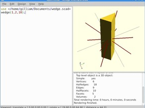 wedge module for openscad