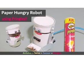 Paper Hungry Robot   Arduino Project   Servo Sensor Pringles project tutorial example