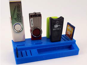 Little USB and SD card holder