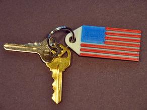 American Flag Keychain Fob