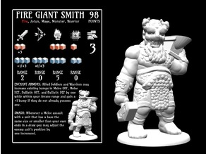 Fire Giant Smith (18mm scale)