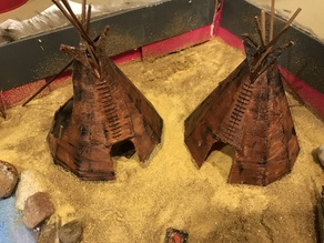 Tipi for Native American Diorama