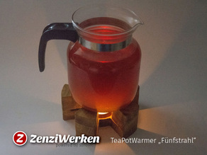 "TeaPotWarmer ""Fünfstrahl"" cnc"