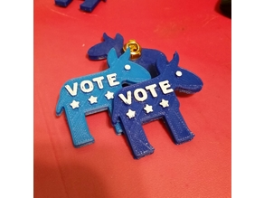 Democratic Donkey vote pin