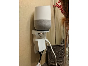 AmazonBasics 3-Outlet Surge Protector - Google Home Stand