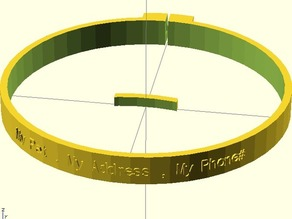 Fully Customizable Pet Collar with Text!