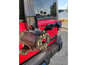 Jeep Wrangler Rear View Camera Extender & adjustment