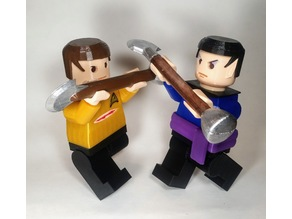 "Star Trek Giant Minifigs ""Amok Time"" - Kirk and Spock fighting"