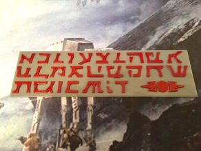 Star Wars - Sith Prophecy Letters
