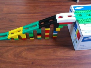 Duplo compatible railway bridge/slope elements