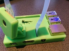 Fixed top for 'RasPi model B+ case optimized for octoprint'