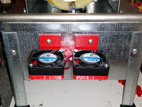 DOUBLE FAN  FOR FILAMAKE FILAMENT EXTRUDER