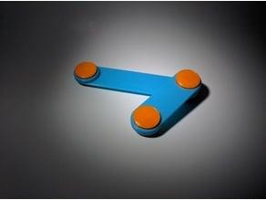 Double Pendulum Fidget Spinner Toy