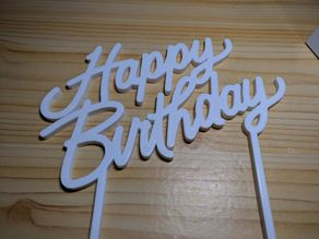 Happy Birthday Cake Decoration