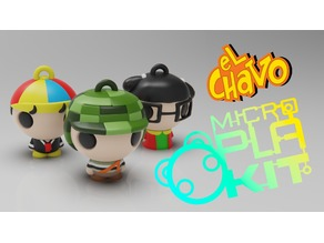 El Chavo del Ocho Set (CHAVES) (MicroPlaKit Series)