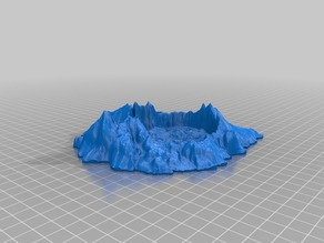 Crater Lake as a Crater for 28mm Gaming
