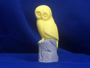 Jean Gordon's carvings Owl - two colour version