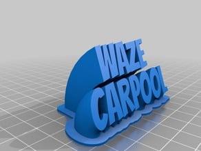 Waze Carpool Plate
