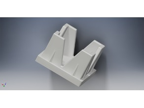 Square tube end cap 22mm