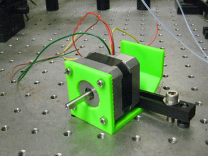 Customizable Clamp Mount for NEMA 17 Stepper