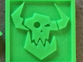 Custom Space Ork Icon Extrusion