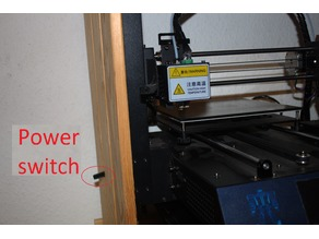 Anycubic i3 mega power switch extension