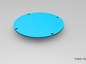 Quad Copter Deck Plate for Fusion Quad Body