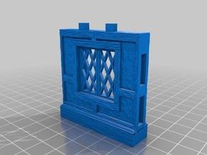 OpenLock 5.0 Tudor Wall Window -Lattice Pane