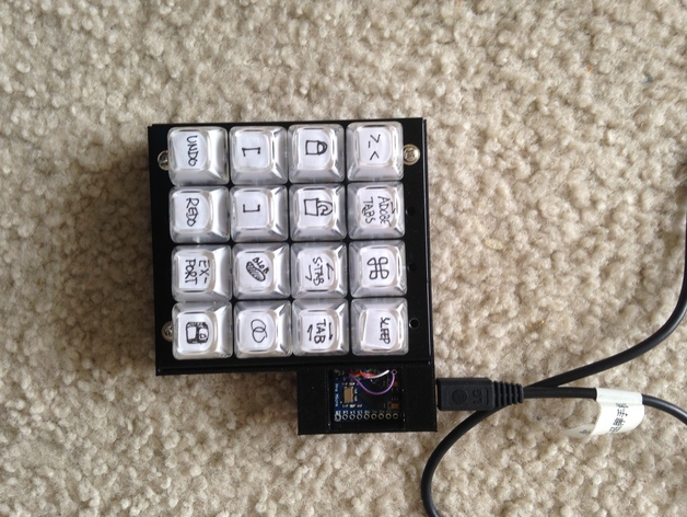 4x4 keyboard with arduino pro micro by pnariyoshi thingiverse. Black Bedroom Furniture Sets. Home Design Ideas