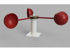 Anemometer w/ Hall Effect Sensor