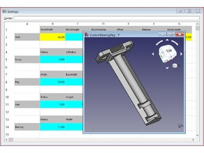 BearingPeg V2 - Customizable FreeCAD
