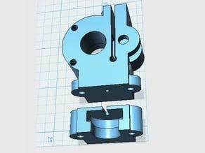 MakerGear M2 1.75mm Filament Drive Split Design