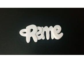 Reme Keyring / Keyfob / Name / Llavero / Nombre