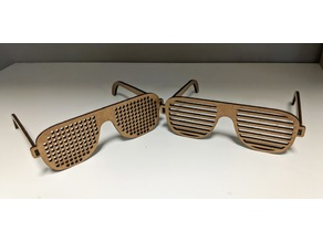 Shutter Shades DIY Glasses now in wood