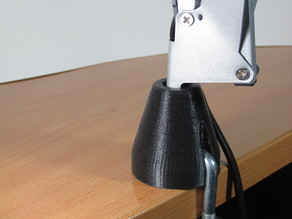 Architect arm desk lamp base support and cable plug replacements