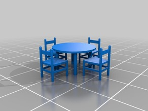 Dioramas elements (Chairs and tables)
