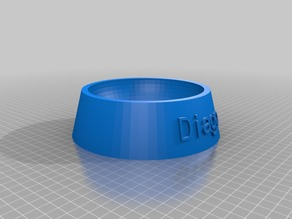 My Customized Fully Parametric Dog / Cat Food Bowl Diago
