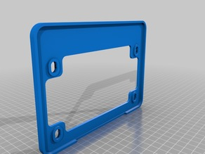 Motorcycle / Scooter License Frame