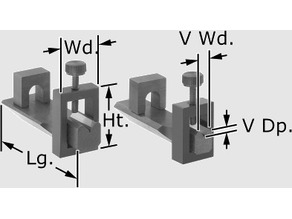 Miniature V-Block with Clamp Set