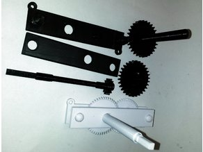 Gear train for 4:1, 12:1 or 36:1 gear reduction